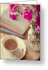 Birthday Tea Time Greeting Card by Toni Hopper