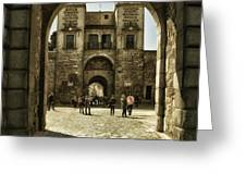 Bisagra Gate And Courtyard Greeting Card