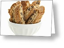 Biscotti Cookies In Bowl Greeting Card