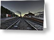 Bishops Lydeard By Dusk  Greeting Card