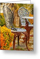 Bistro Table-color Greeting Card