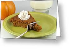 Bite Of Pumpkin Pie Greeting Card