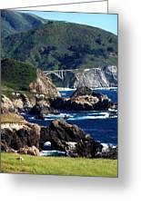 Bixby Bridge Greeting Card by Christine Drake