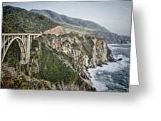 Bixby Bridge Vista Greeting Card