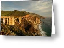 Bixby Creek Bridge In Big Sur Greeting Card