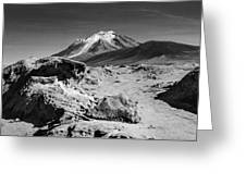 Bizarre Landscape Bolivia Black And White Greeting Card