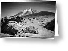 Bizarre Landscape Bolivia Black And White Select Focus Greeting Card