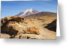 Bizarre Landscape Bolivia Greeting Card