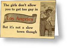 Bizarre Los Angeles Postcard Greeting Card