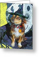 Black And Tan Chihuahua - Such A Good Little Witch Greeting Card