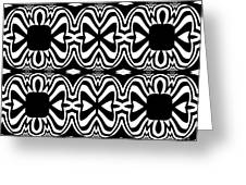Pattern Black White Abstract Art No.301. Greeting Card