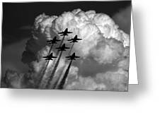 Black And White And Blue Angels Greeting Card