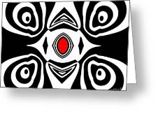 Abstract Black White Red Art No.213 Greeting Card