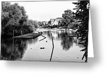 Black And White - Boathouse Row Greeting Card