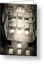 Black And White Bodmin Jail Greeting Card