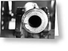 Black And White Cannon Greeting Card