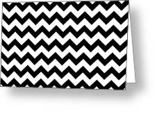 Black And White Chevron Greeting Card
