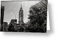 Black And White City Hall Greeting Card