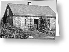 Black And White Cottage Greeting Card