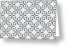 Black And White Designs Greeting Card