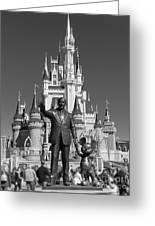 Black And White Disney And Mickey Greeting Card