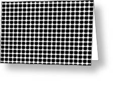 Black And White Dots Greeting Card by Daniel Hagerman