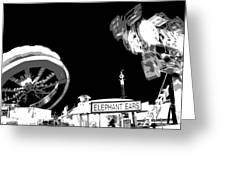 Black And White Festival Night Greeting Card