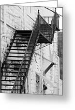 Black And White Fire Escape Usa Near Infrared Greeting Card