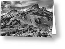 Black And White Garibaldi Black Tusk Greeting Card