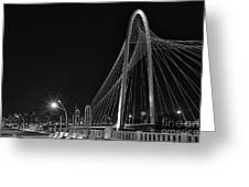 Black And White Hunt-bridge-dallas Greeting Card