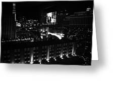 Black And White In Vegas Greeting Card