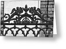 Black And White Ironwork Greeting Card by Alys Caviness-Gober