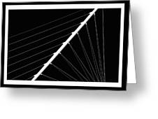 Black And White Lines Greeting Card
