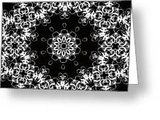 Black And White Medallion 1 Greeting Card