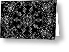 Black And White Medallion 11 Greeting Card
