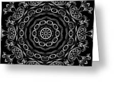 Black And White Medallion 2 Greeting Card