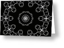 Black And White Medallion 3 Greeting Card