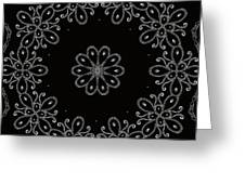 Black And White Medallion 4 Greeting Card