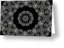 Black And White Medallion 6 Greeting Card