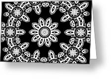 Black And White Medallion 8 Greeting Card