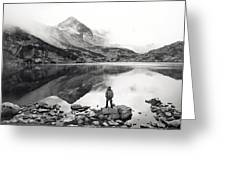 Black And White Mountain Landscape  Greeting Card