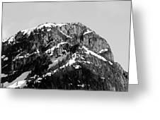 Black And White Mountain Range 1 Greeting Card by Diane Rada