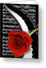 Black And White Music Collage Greeting Card