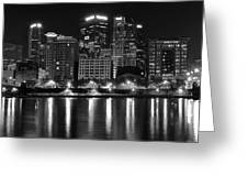 Black And White Night In Pa Greeting Card