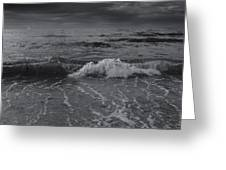Black And White Ocean Wave 2014 Greeting Card