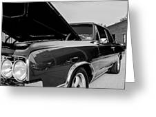 Black And White Olds Greeting Card
