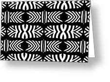 Pattern Black White Art No.302. Greeting Card