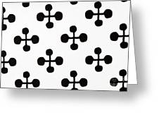 Black And White Pattern Fabric Greeting Card