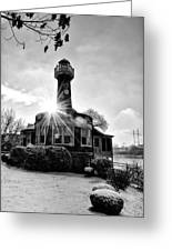 Black And White Philadelphia - Turtle Rock Lighthouse Greeting Card