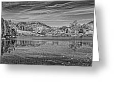 Black And White Photo Of Long Pond Acadia National Park Maine Greeting Card